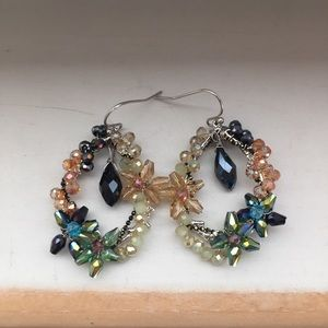 Jewelry - Striking beaded and crystal earrings